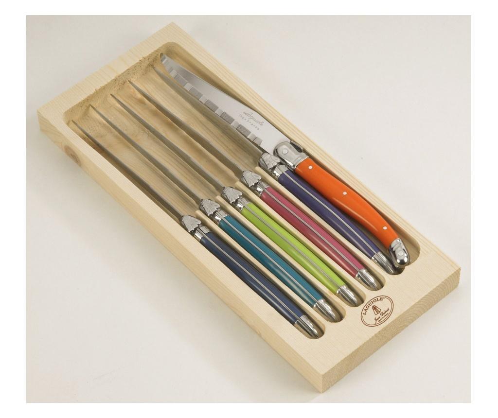 Set 6 Cutite Pentru Friptura London - Jean Dubost, Multicolor