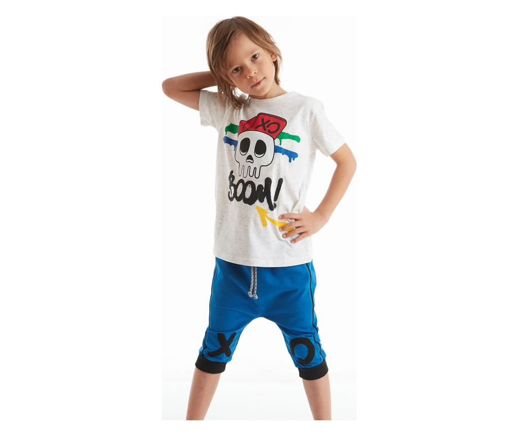 Set Tricou Si Pantaloni Pentru Baieti Xo Boom 2 Ani - Mushi