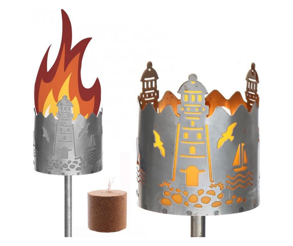 Lampa de exterior cu lumanare - DIO - Only for you, Gri & Argintiu