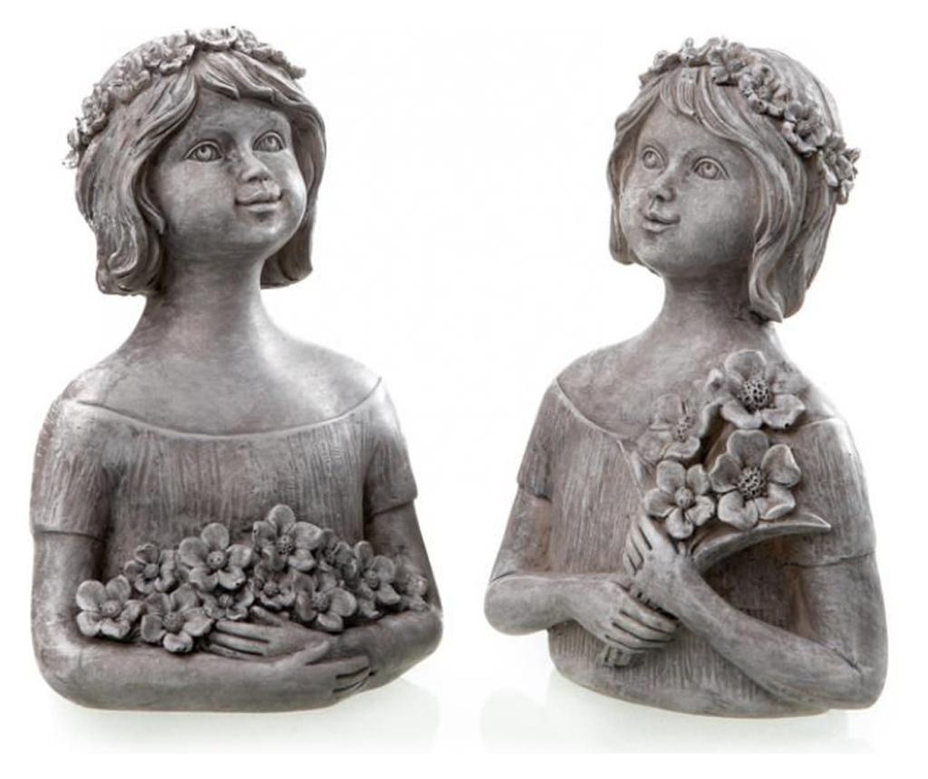 Set 2 decoratiuni - DIO - Only for you, Gri & Argintiu