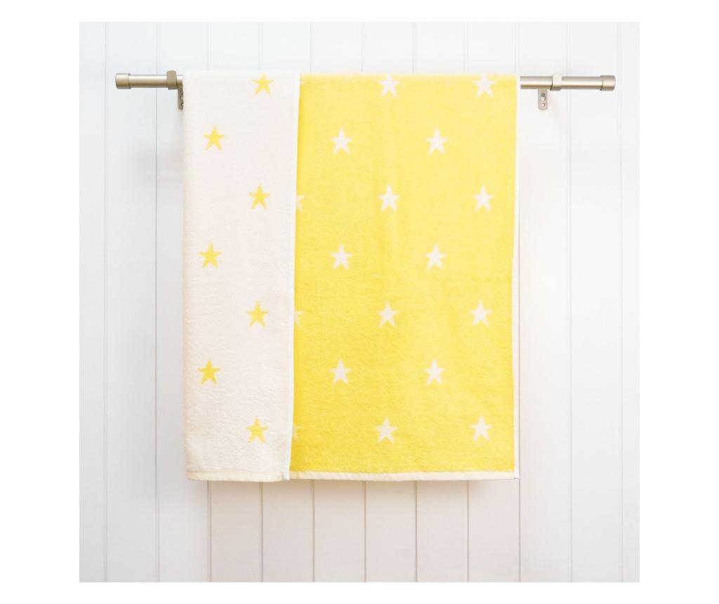 "<span class=""title-long"">Prosop de baie Stars Yellow 70x120 cm - Ardenza, Galben & Auriu</span>"
