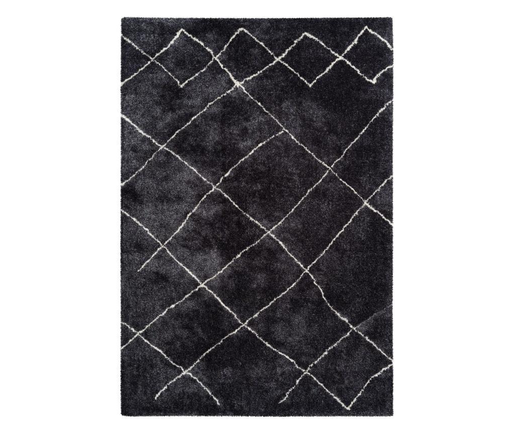 Covor Quino Anthracite 200x290 cm - Kayoom, Gri & Argintiu