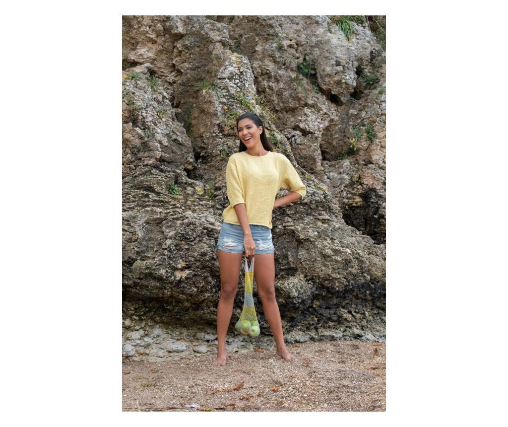 Bluza dama Cocoon Yellow S-M - Barine Home, Galben & Auriu
