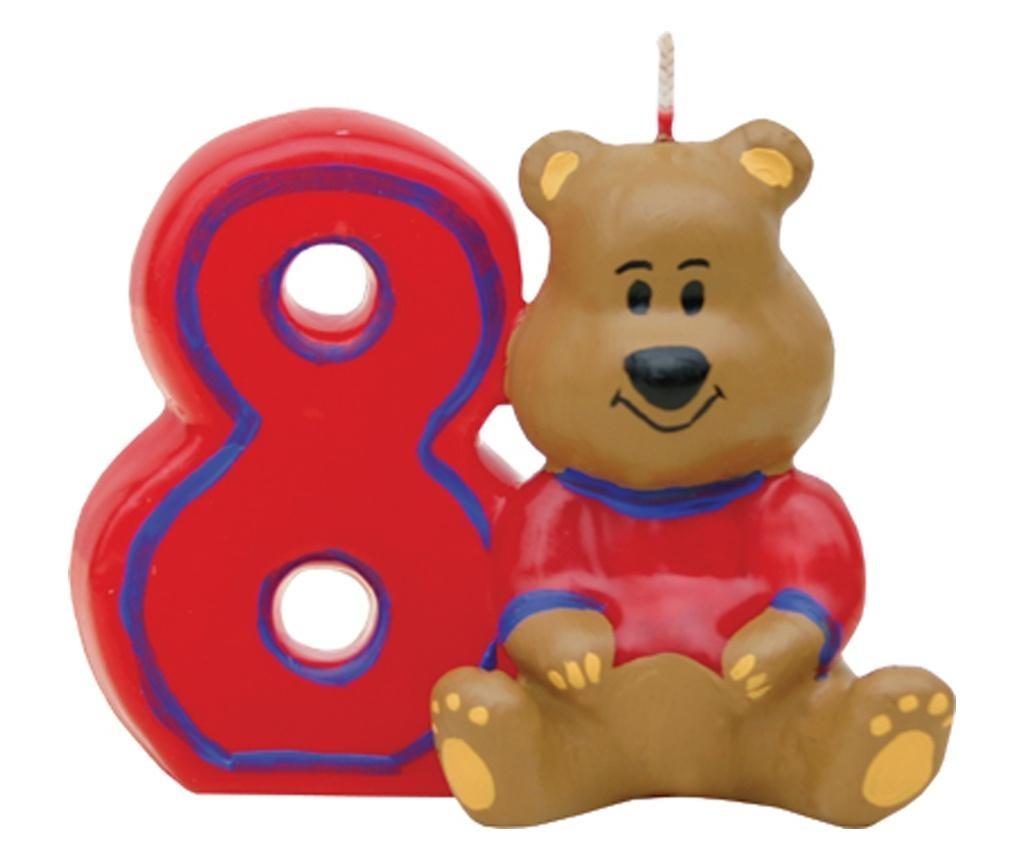 Lumanare aniversara Bear 8