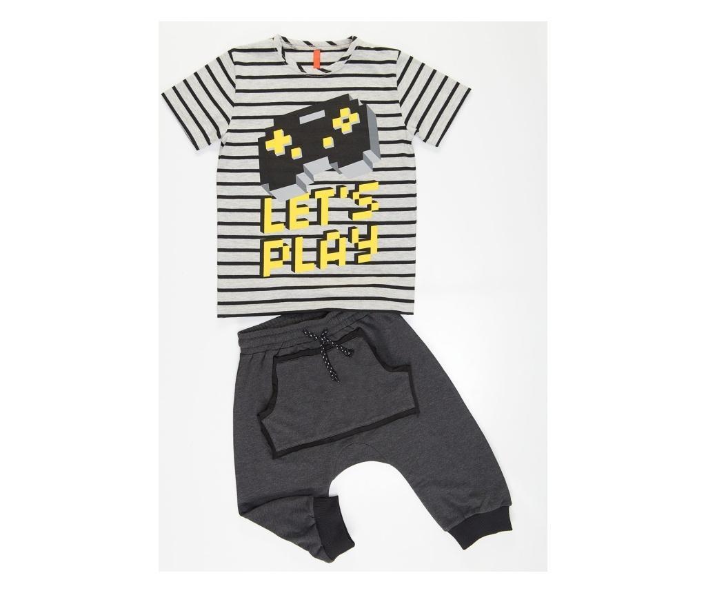 Set tricou si pantaloni pentru baieti Lets Play 5 years