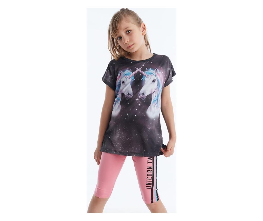 Set colanti si tricou fete Twin Unicorn 8 years