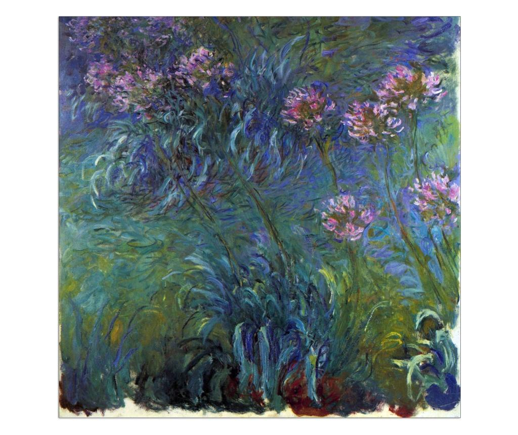 Tablou Monet Claude - Jewelry Lilies 30x30 cm - ArtPlaza, Multicolor de la ArtPlaza