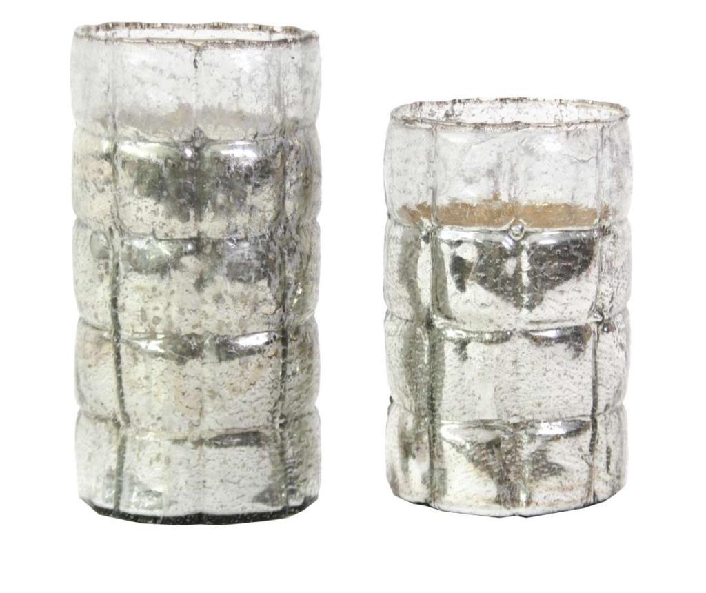 Set 2 vaze - Innovaliving, Gri & Argintiu