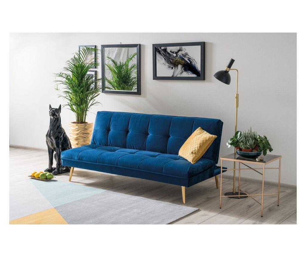 Canapea extensibila Moritz Blue - Signal, Albastru