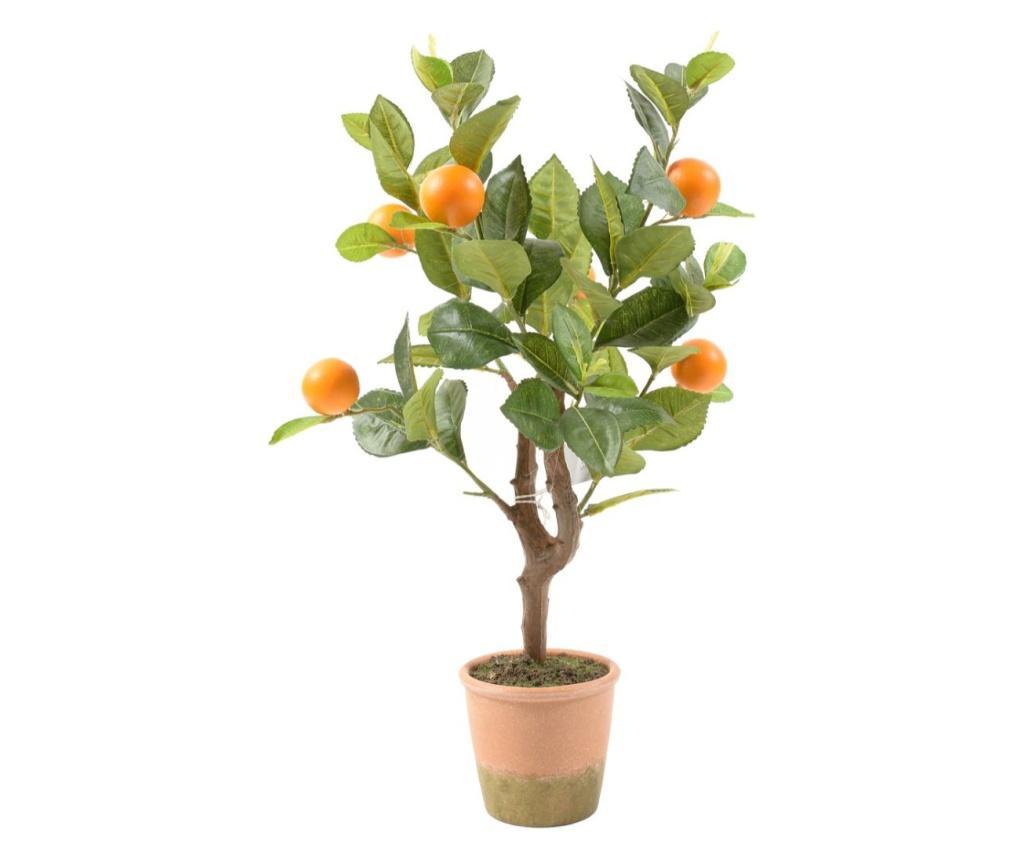 Planta artificiala in ghiveci Mandarin - Mercury , Portocaliu