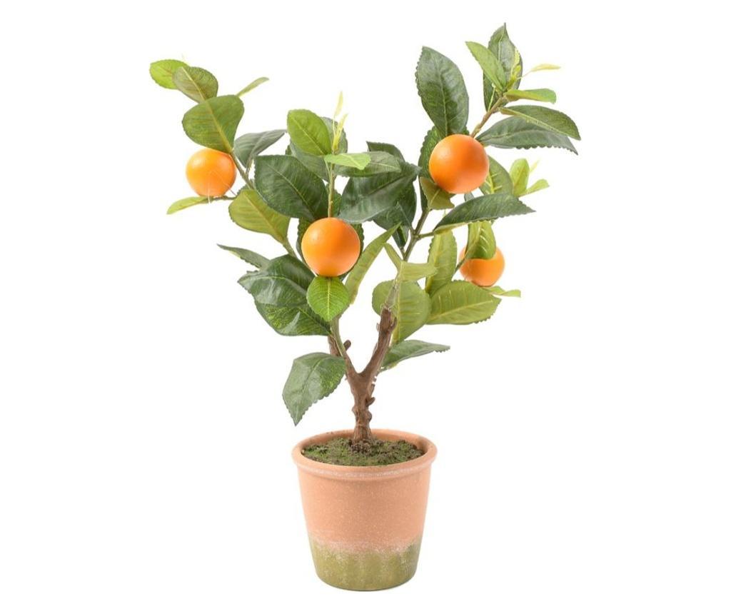 Planta artificiala in ghiveci Perfect garden - Mercury , Portocaliu