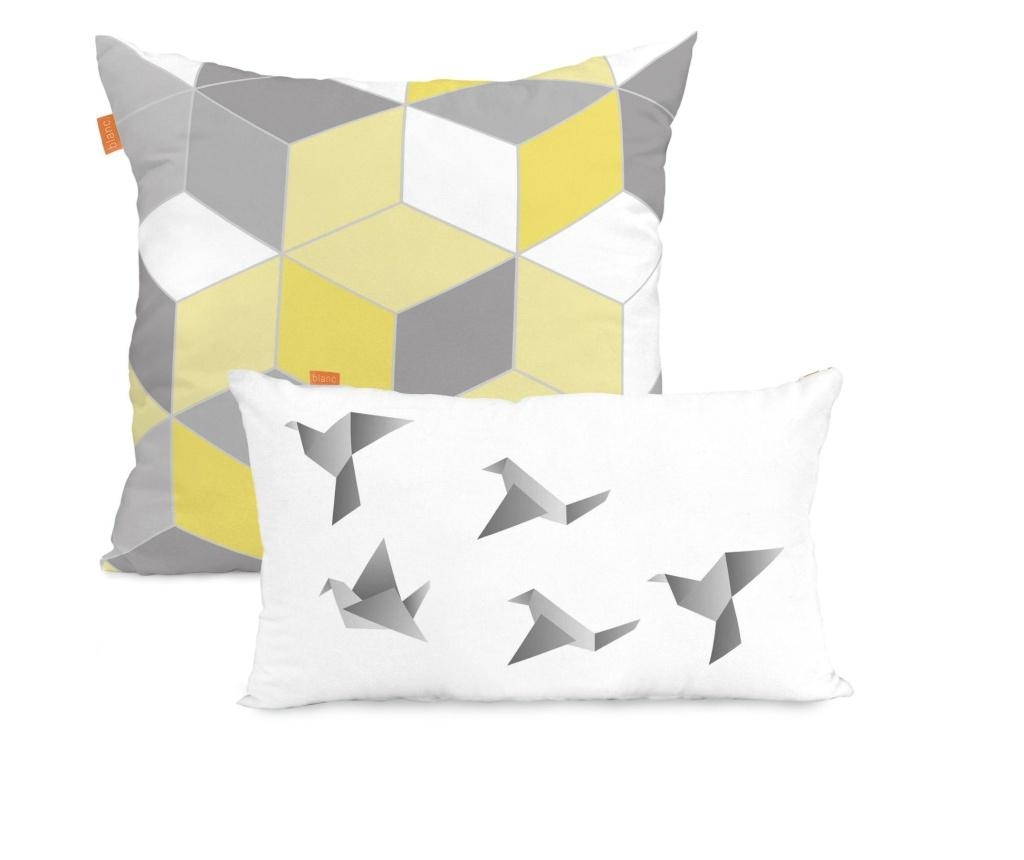Set 2 fete de perna Symmetry Yellow Mix - BLANC, Multicolor