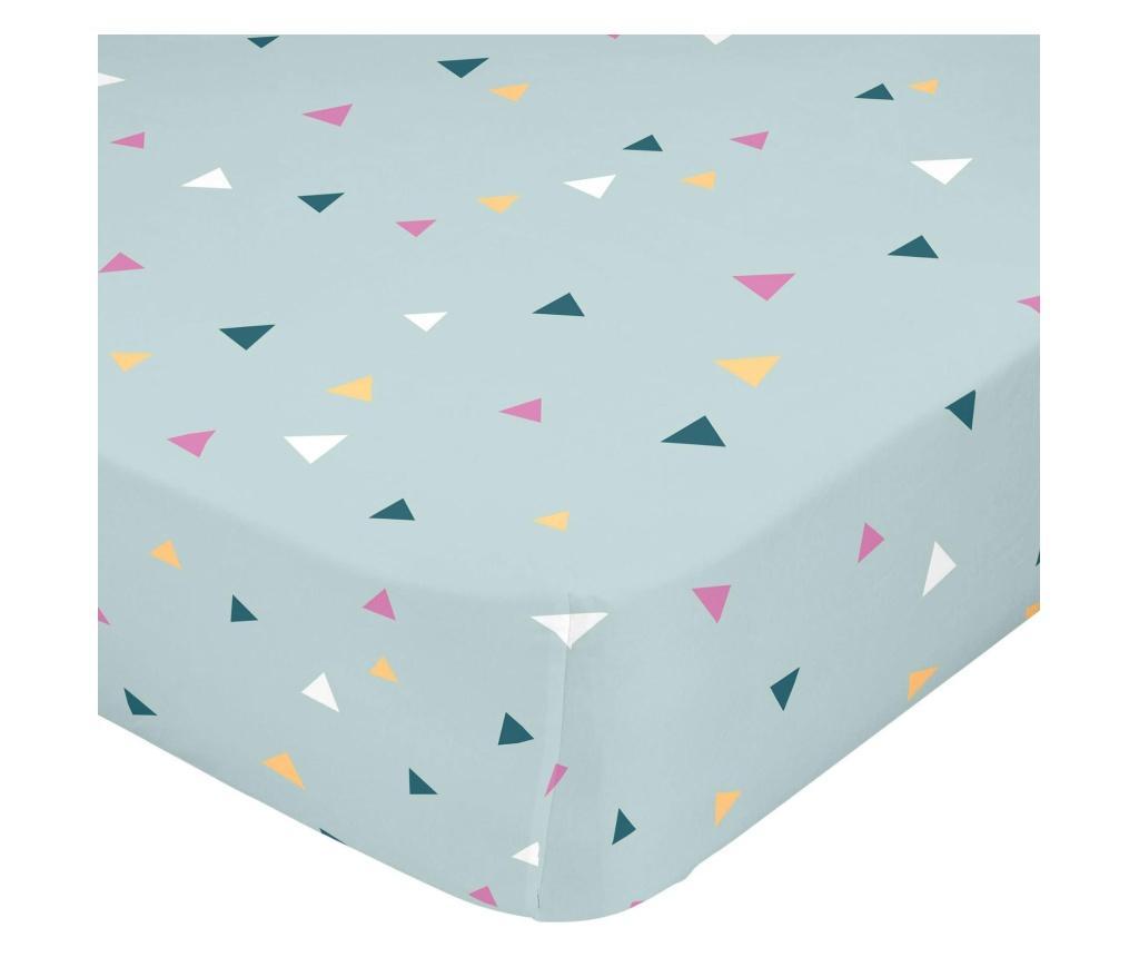 Cearsaf de pat cu elastic Glitzy 90x200 cm - Baleno Teen, Multicolor