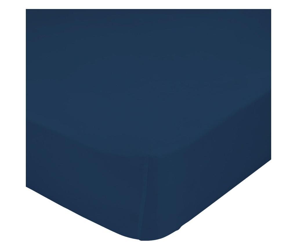 Cearsaf de pat cu elastic Basic Navy 140x200 cm - Basic, Albastru