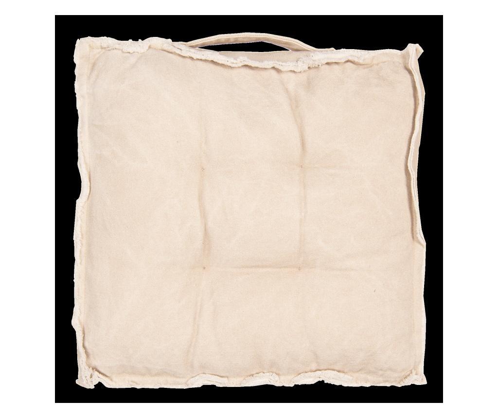 Perna de sezut 45x45 cm - Clayre & Eef, Crem
