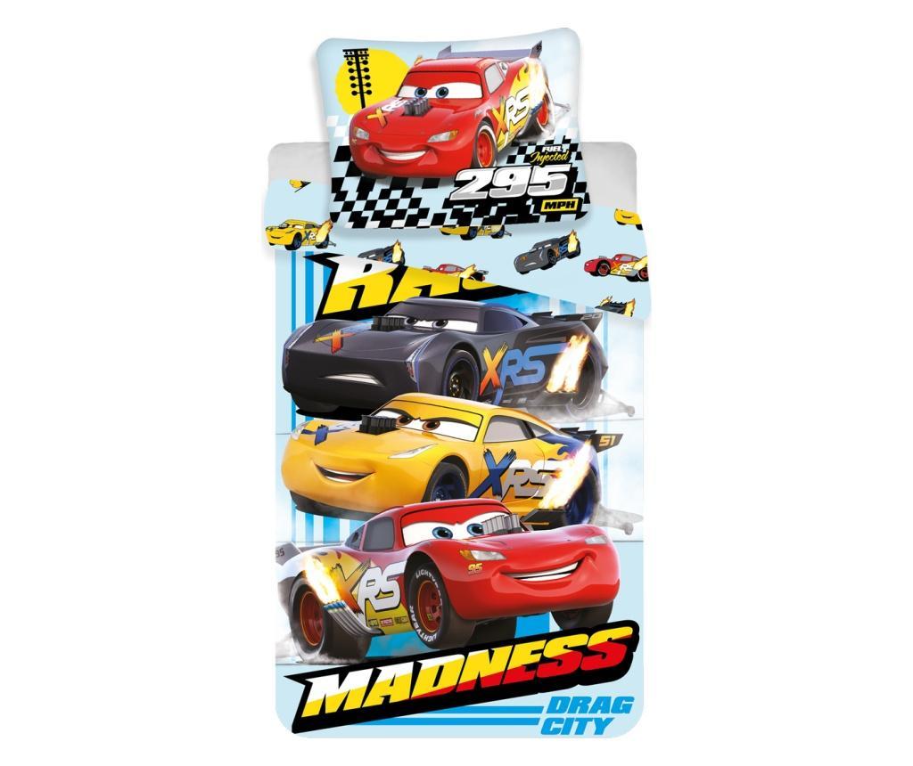 Set de pat Single Ranforce Cars Madness - Cars by Disney, Multicolor