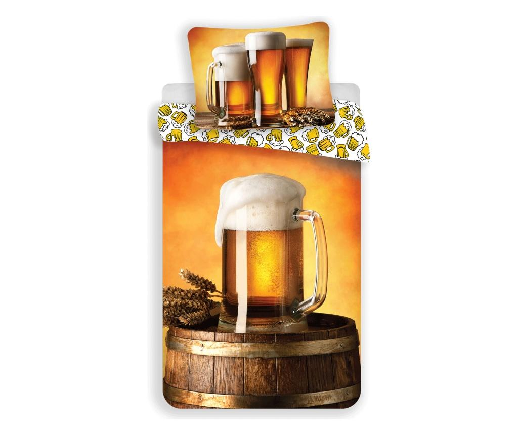 Set de pat Single Ranforce Beer - Sweet home, Multicolor