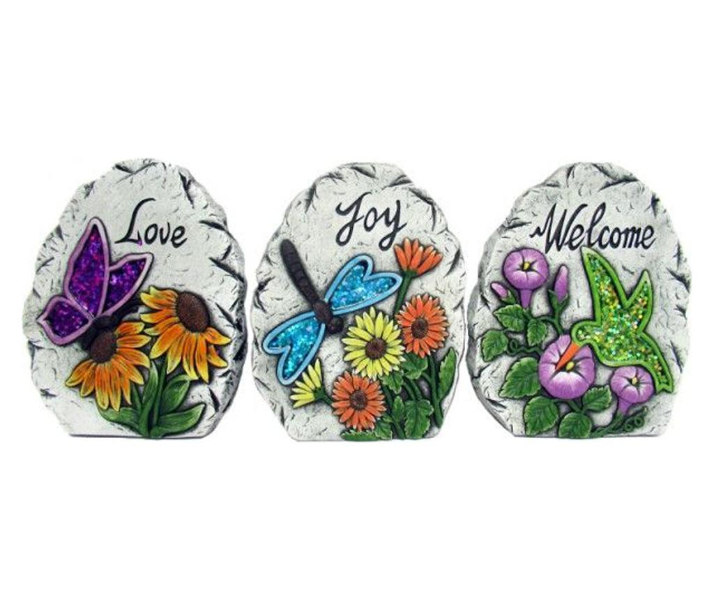Set 3 decoratiuni de gradina - Fedor, Multicolor