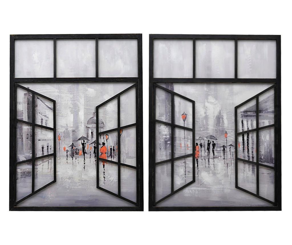 Set 2 tablouri - Garpe Interiores, Multicolor