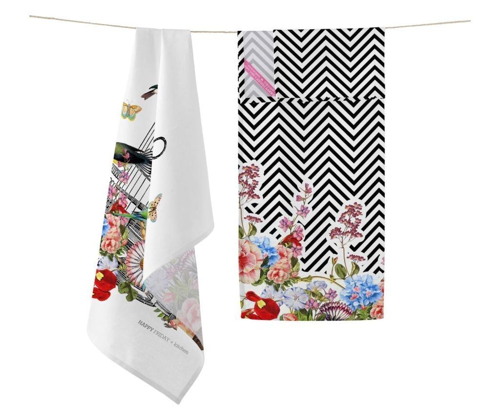 Set 2 kuhinjska ručnika Hanging Garden 50x70 cm