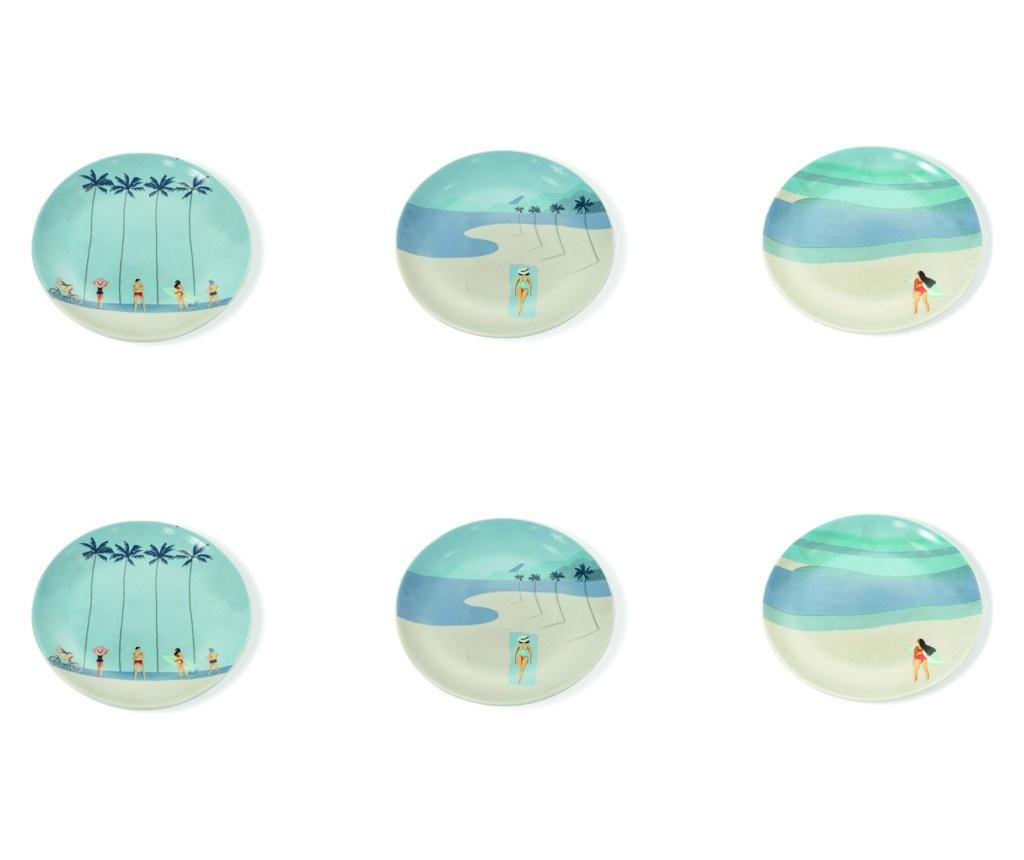 Set 6 farfurii intinse South Beach - Villa D'Este, Portocaliu
