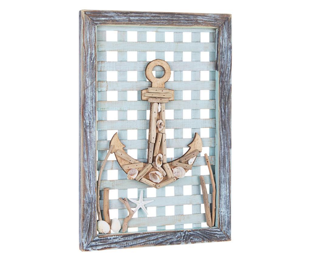 Decoratiune de perete Seaward Anchor - Yes Everyday, Albastru