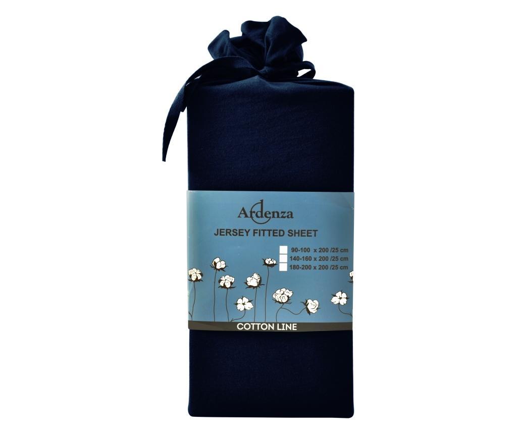 Cearsaf de pat cu elastic 160x200 cm - Ardenza, Albastru