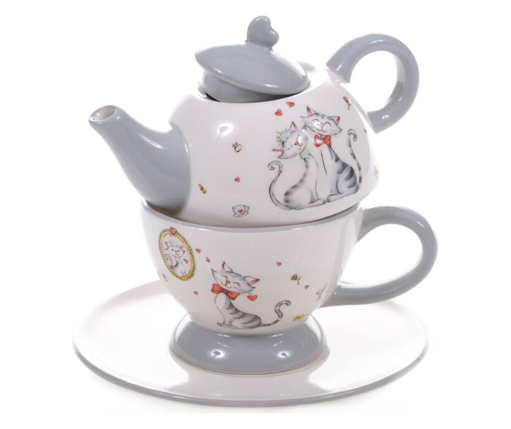 Set ceainic cu ceasca si farfurioara - Dino Bianchi, Multicolor