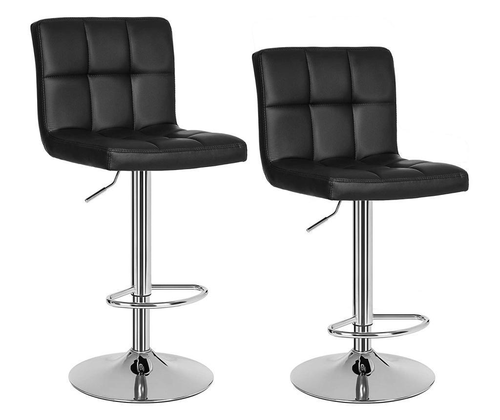 Set 2 scaune de bar - SONGMICS, Negru