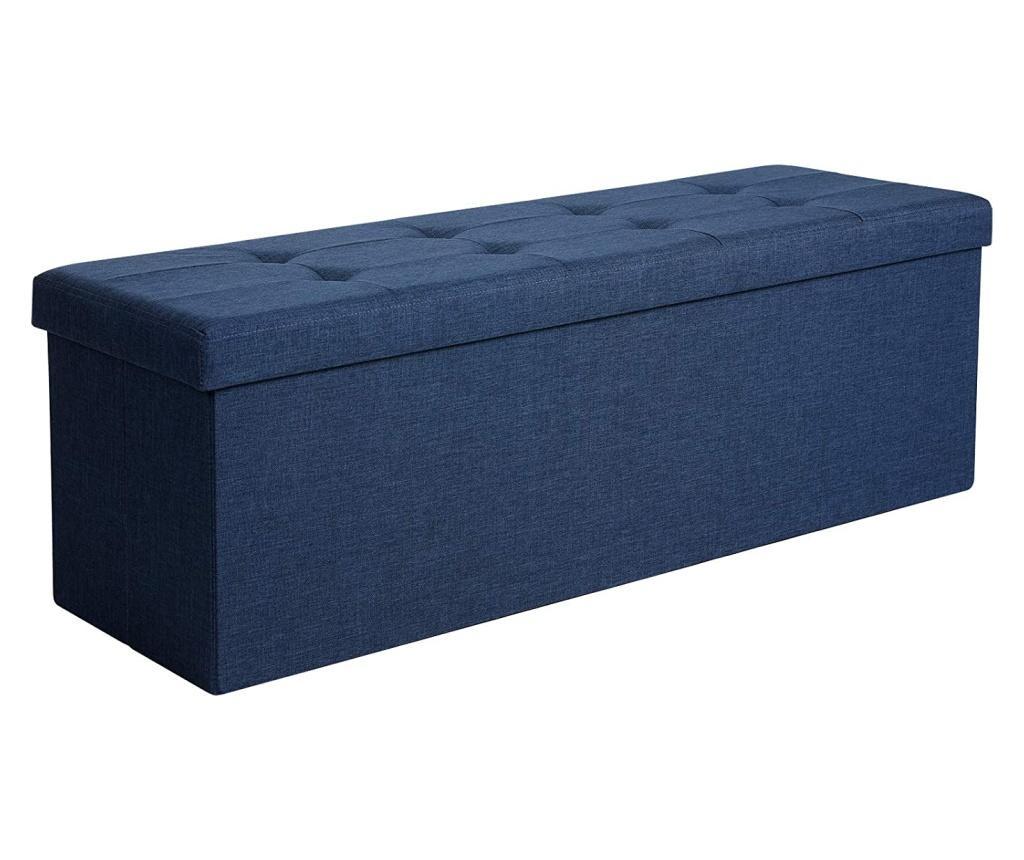 Bancheta cu spatiu pentru depozitare - SONGMICS, Albastru