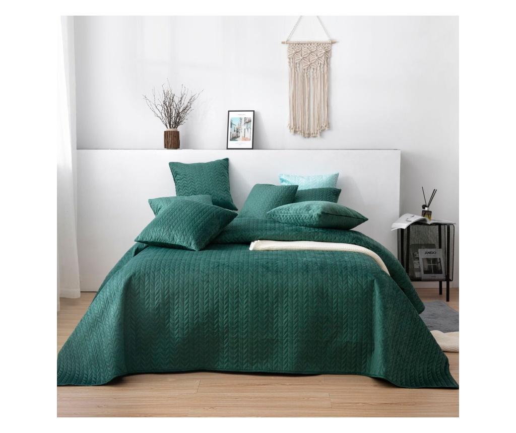 Cuvertura matlasata 160x220 cm - Chic Home, Verde
