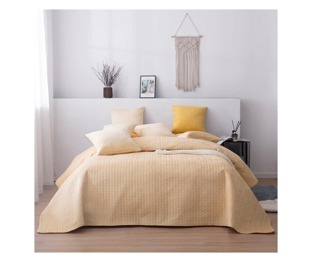 Cuvertura matlasata 200x220 cm - Chic Home, Maro