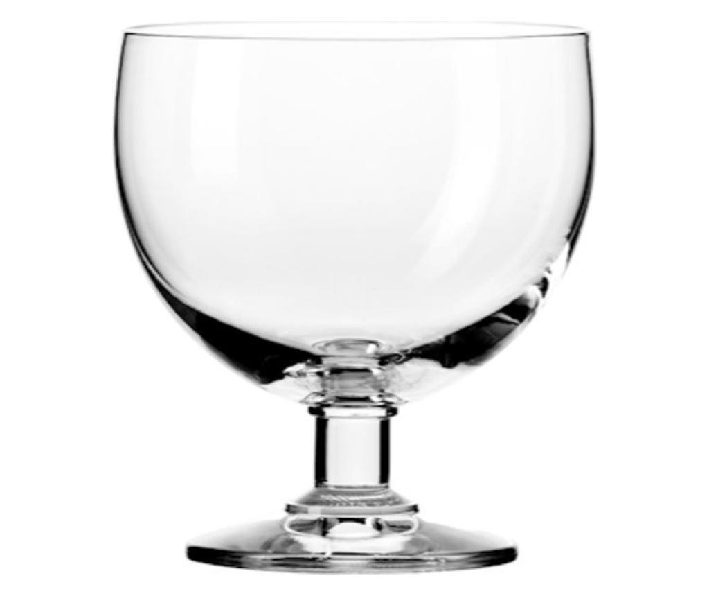 Set 6 cupe pentru inghetata 350 ml - H&H, Alb