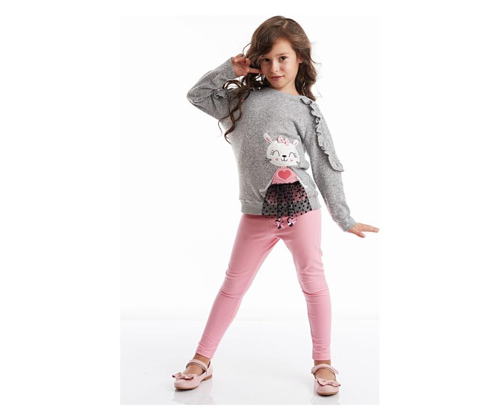 Set bluza si colanti lungi Lily Knitted 3 years - Denokids