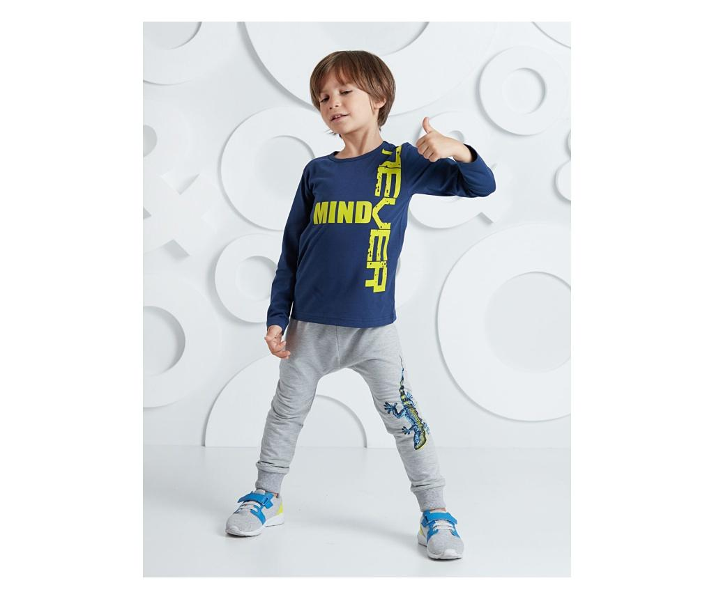 Set bluza si pantaloni Salamander Grey/Navy 7 years - Mushi, Multicolor