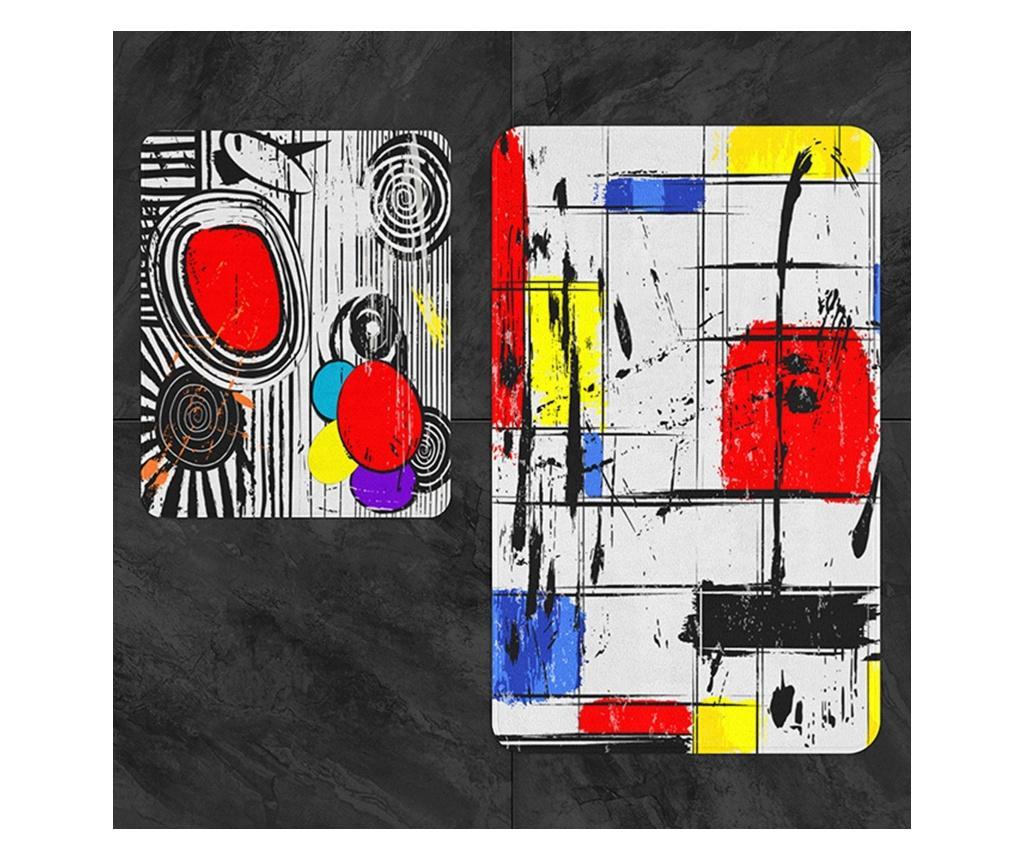 Set 2 covorase de baie - Oyo Concept, Multicolor