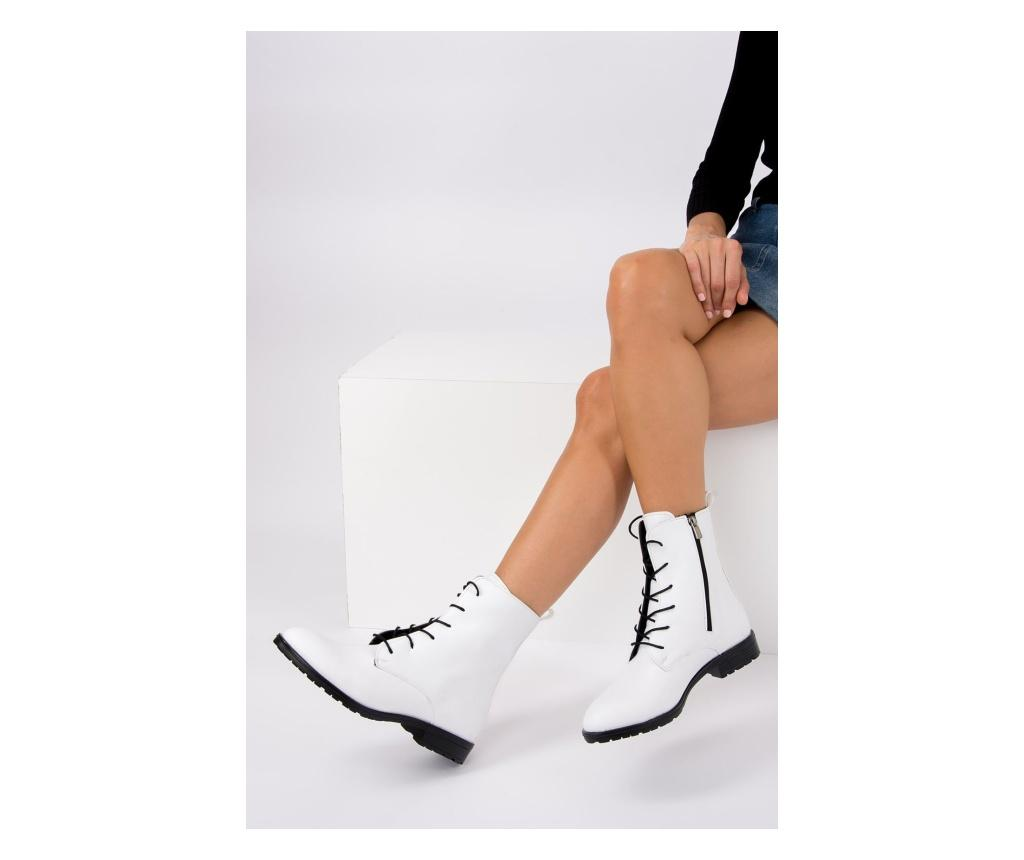 Ghete dama 39 - Fox Shoes, Alb