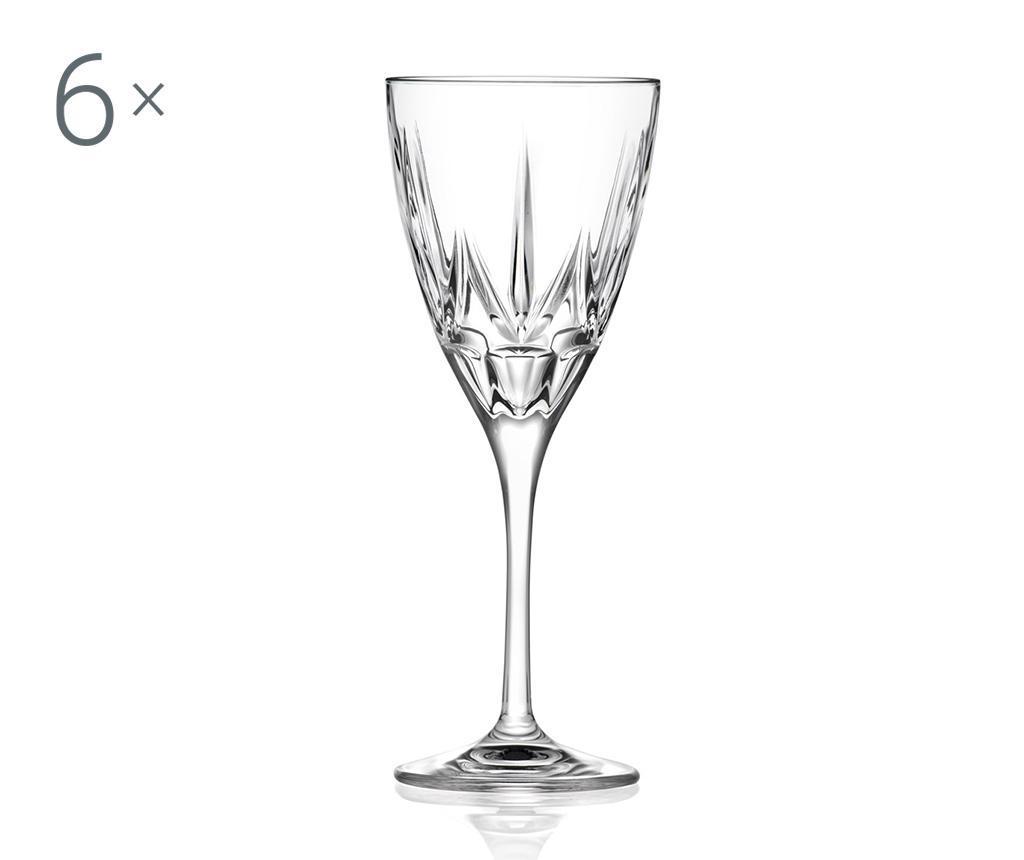 Set 6 pahare cu picior Chic 360 ml - RCR Cristalleria Italiana
