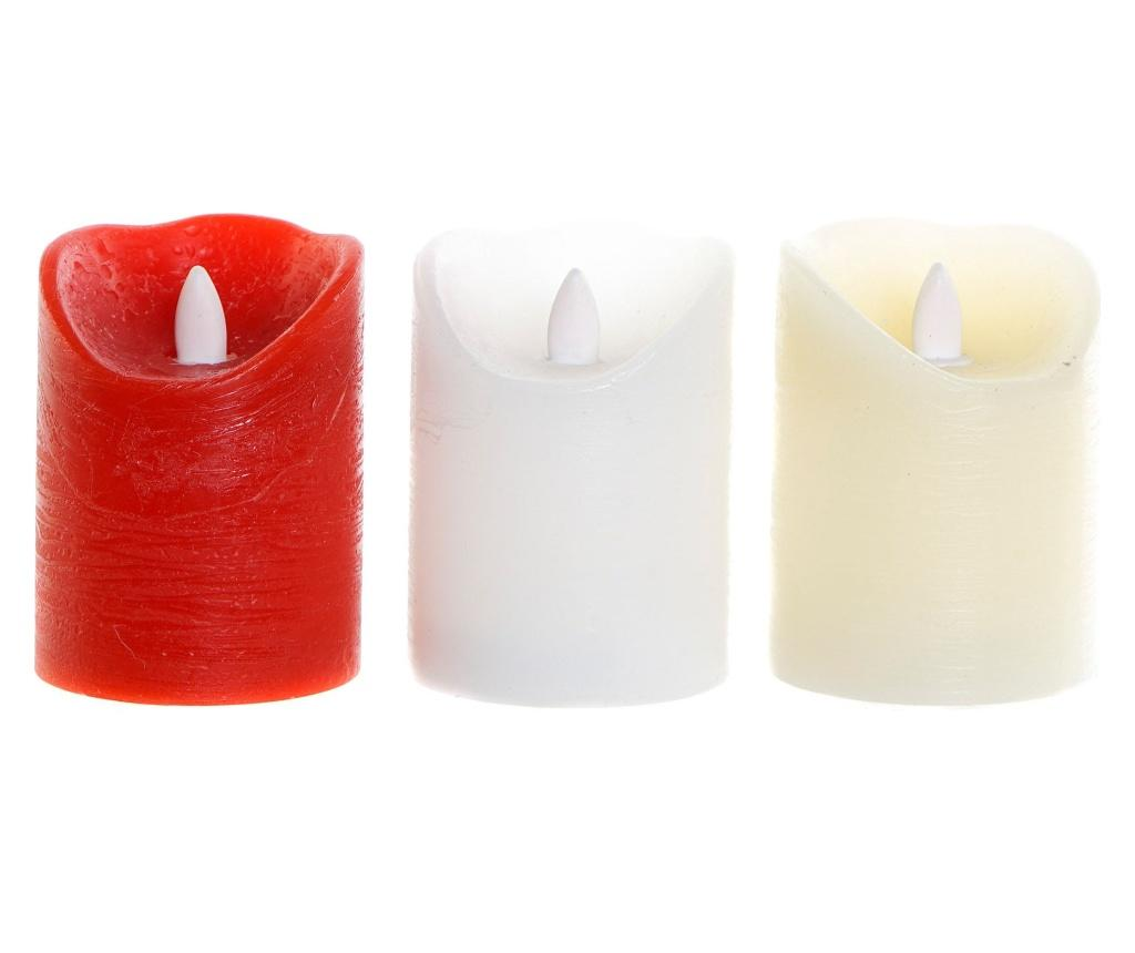 Set 3 lumanari cu LED Christmas Traditional - Item International