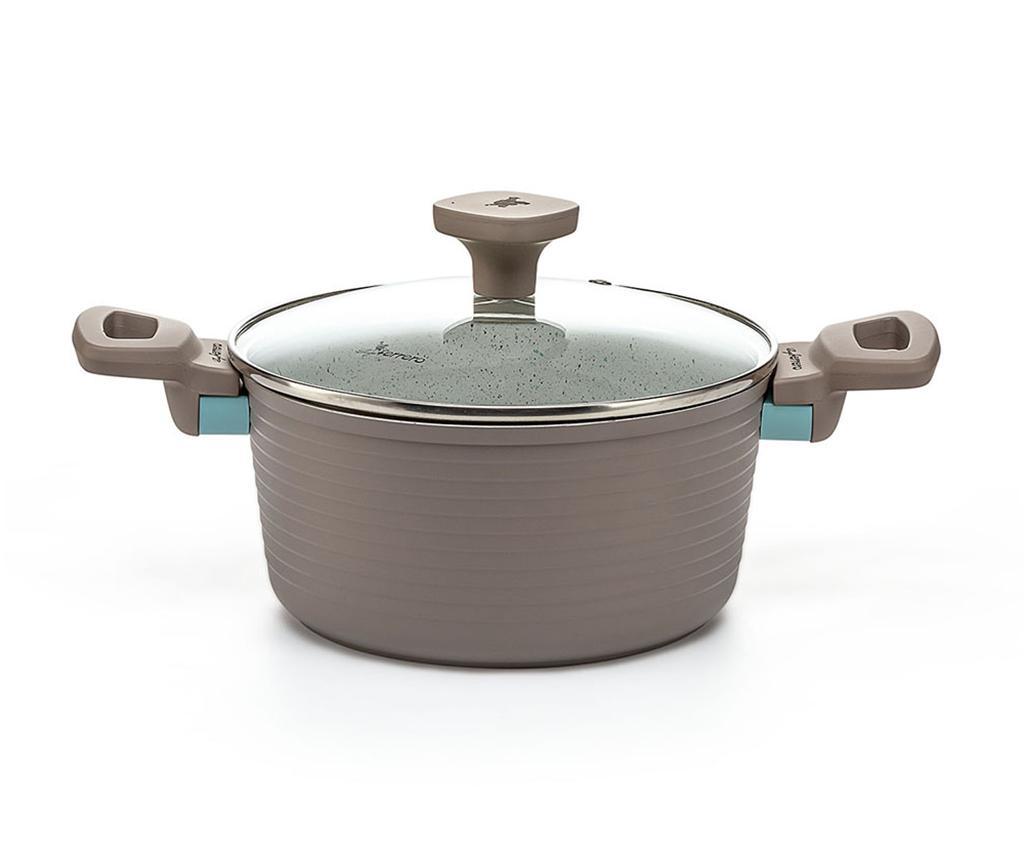 Cratita cu capac Norsk 2.5 L - Luigi Ferrero, Gri & Argintiu