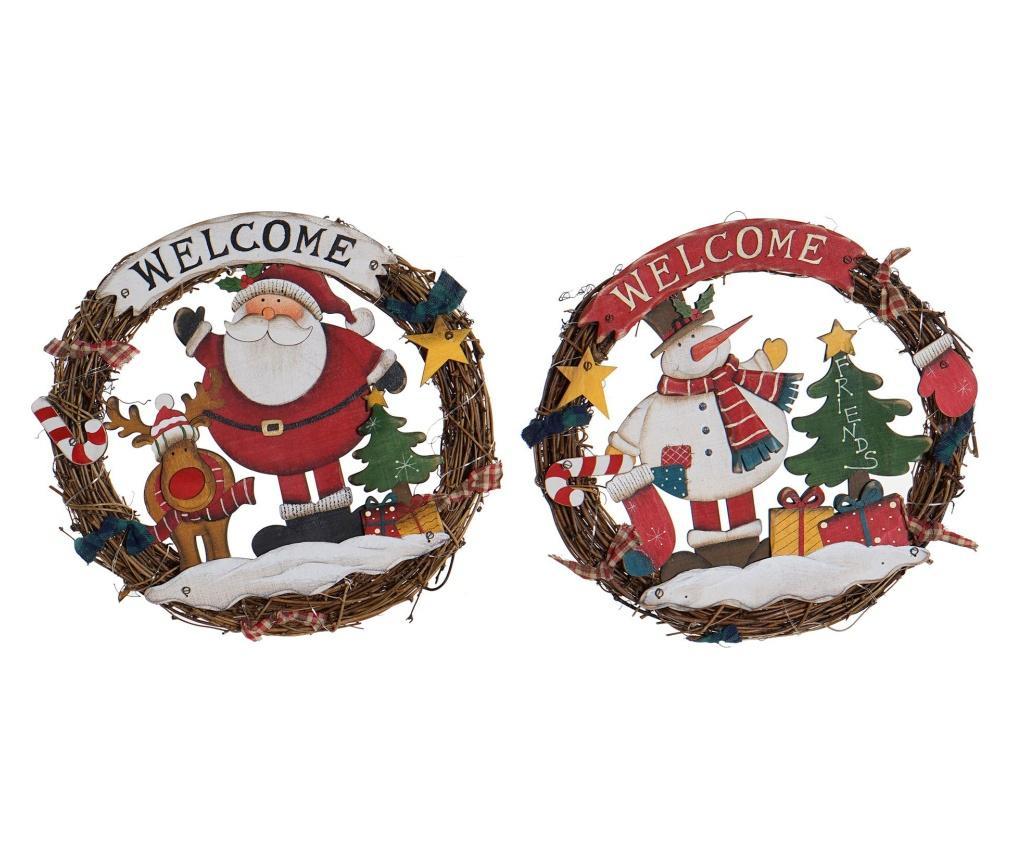 Set 2 decoratiuni luminoase Crown Christmas Traditional - Item International
