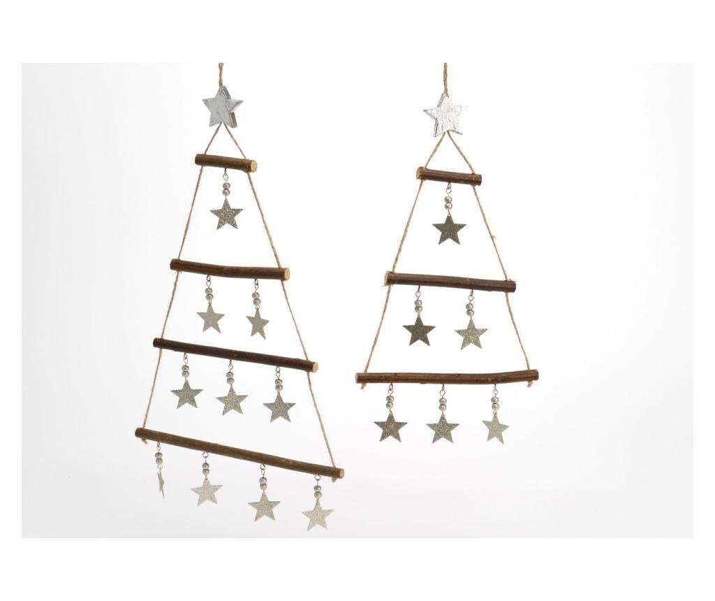 Set 2 decoratiuni Christmas - Amadeus, Multicolor