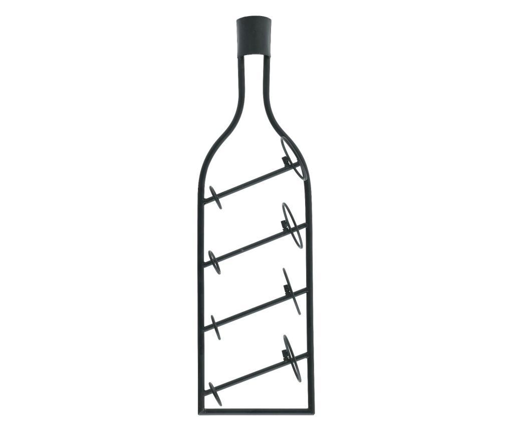 Suport pentru 4 sticle de vin - inart, Gri & Argintiu