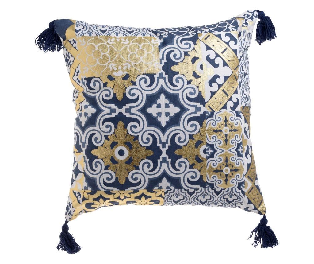 Perna decorativa 45x45 cm - inart, Galben & Auriu