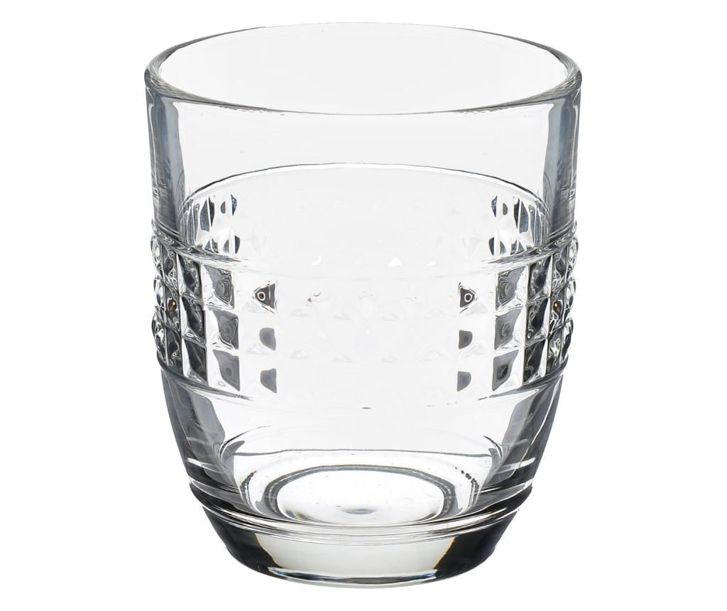 Set 6 pahare pentru whiskey - Click, Alb