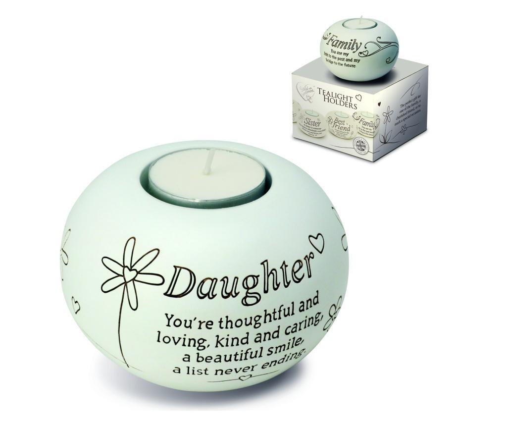 Suport pentru lumanare Tealight - Daughter - Said With Sentiment, Multicolor