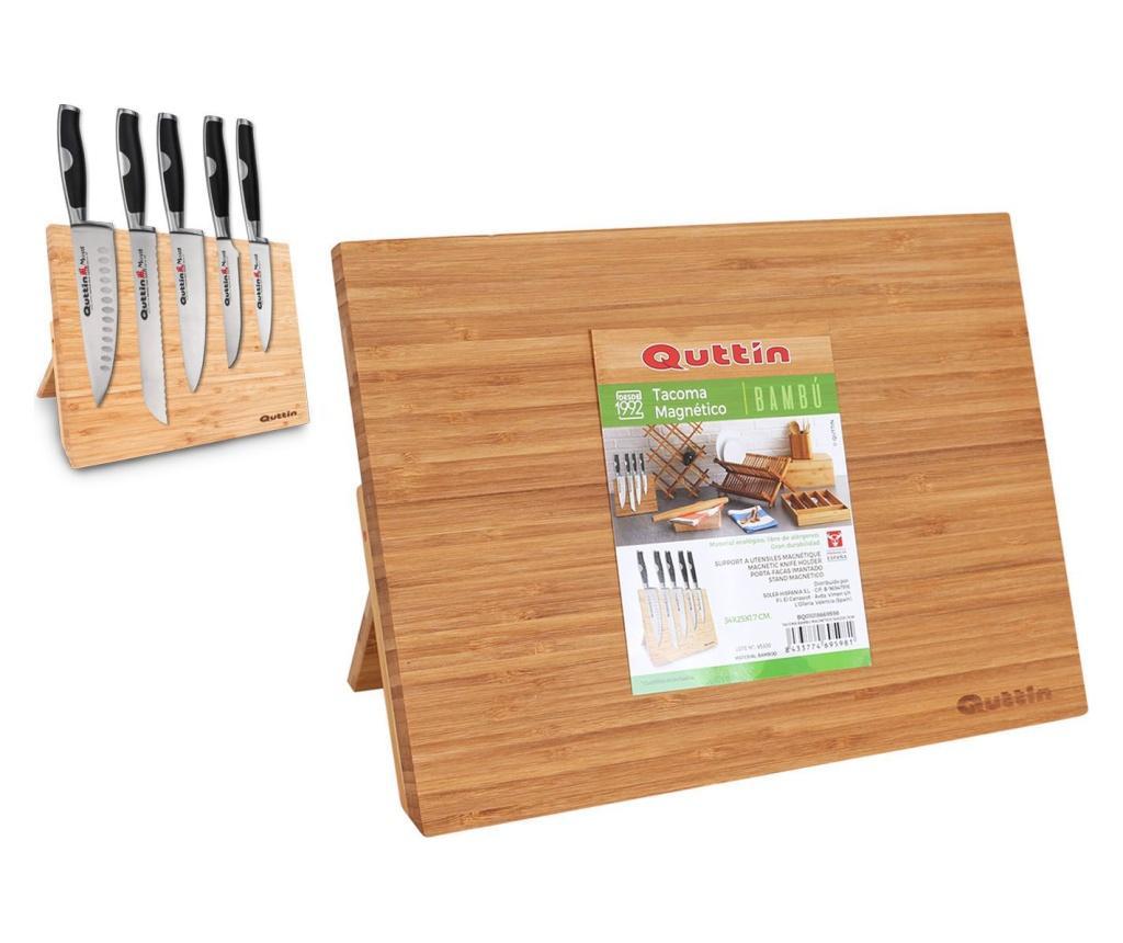 Suport magnetic pentru cutite - QUTTIN, Maro