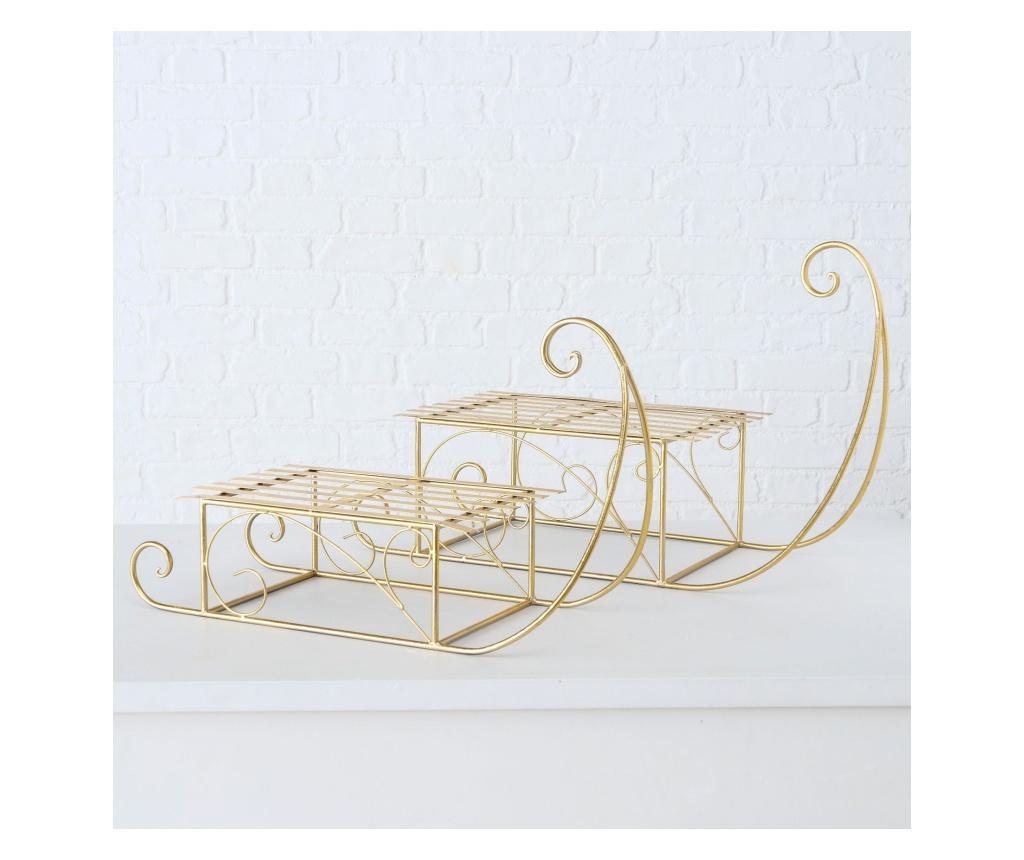 Set 2 decoratiuni de Craciun Amos - Boltze, Galben & Auriu