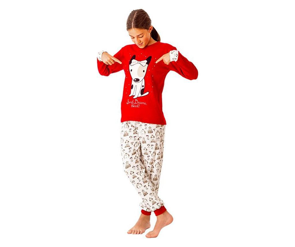 Pijama fete Guauu 12 years - a.apunto, Rosu