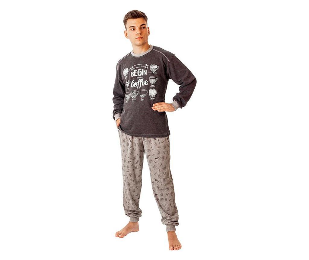 Pijama barbati Coffee S - a.apunto, Gri & Argintiu